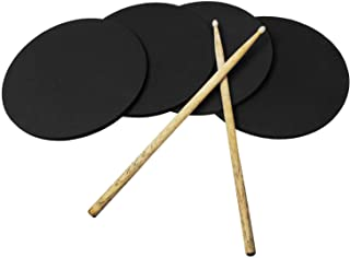 """4-Pack Drum Practice Pads - 11"""" Round x 3/8"""" Thick (11"""")"""