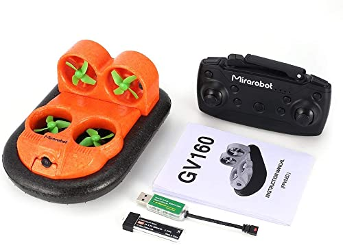 GreatWall Mirarobot GV160 2.4G 30km   h RC Stiefel Auto Bodeneffekt Fahrzeug 5.8G FPV Version Orange