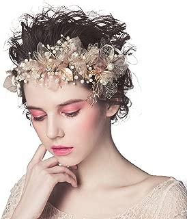 Pink Art Deco 1920's Vintage Inspired Pearl Rhinestone Headpieces Headband