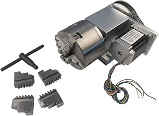 Hollow Shaft 4th Axis Router Rotational A Axis Φ100mm 4 Jaw Chuck 6:1 Reducing Ratio CNC Engraving Machine