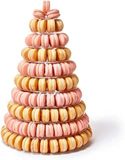 Clear Plastic Macaron Tower 10 Tier Display Round Cake Stands