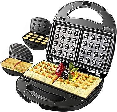 3 in 1 Electric Waffle Maker Sandwich Machine Walnut Cake Maker Oven Toaster Kitchen Breakfast Machine Donuts Panini Multi-Ba