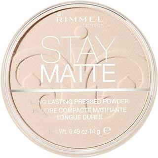Rimmel London Stay Matte Pressed Powder, Transparent #001, 14 g