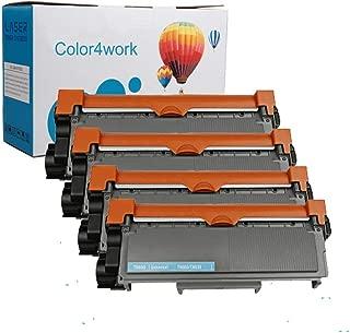 Color4work TN660 Toner Cartridges TN-660 TN 630 Black 4Pack Compatible for MFC L2700DW L2740DW L2720DW HL L2360D L2305W L2320D L2341DW L2360DW L2380DW DCP L25250DW L2540DW Printer Series