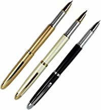 3 PCS in Set Gullor 606 Fountain Pen Cartridge Pens in 3 Colors with Pen Pouch