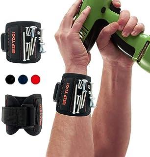 Magnetische armbanden, magneetarmband met 15 sterke magneten, schroeven, spijkers, pluggen, gereedschap, cadeau voor doe-h...
