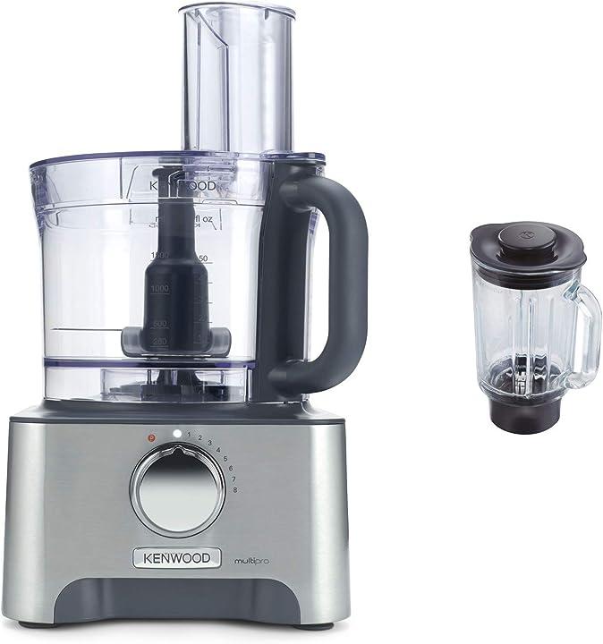 Robot da cucina con frullatore, 1000 w, 3 litri, metallo pressofuso, argento kenwood fdm781ba