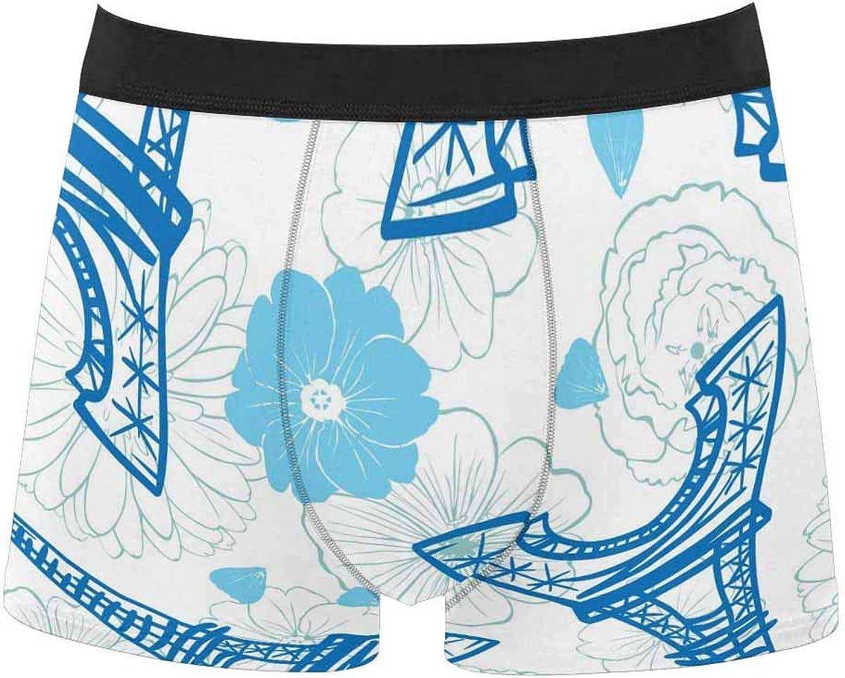 InterestPrint Men's Lightweight Breathable Boxer Classic Briefs Underwear Blue Crystal Water and Beach