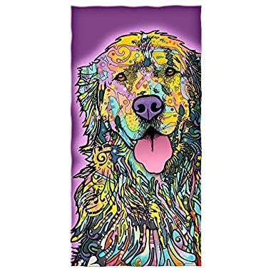 Dean Russo Golden Retriever Cotton Beach Towel
