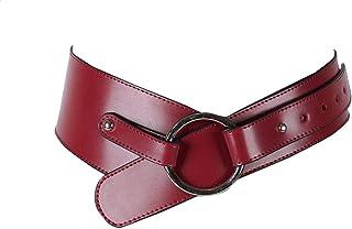 حزام للخصر كروس مائل جلد مزين بخياطة للنساء من يو باي ميسورا - نبيتي، S
