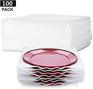 """ORIGA 100-Count Packing Supplies Cushion Foam Sheets 12"""" x 12"""" Safely Wrap to Protect Dishes China Glasses Plates Fragile Items for Moving Boxes"""