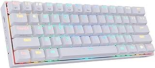 كيبورد ريدراجون K530 دراكون للالعاب الميكانيكية بسلك/بلوتوث الفضاء اللوني ار جي بي 60% - مفاتيح بلوتوث بنية 5.0 - 3 جهاز ق...