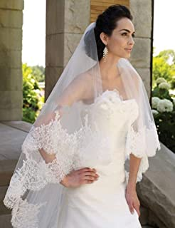 Bridal Veils Lace Edge Marriage Veils Bride Veil With Crystal Comb Wedding Accessory 1 Layer 3M Long White Ivory 0603 yynh...