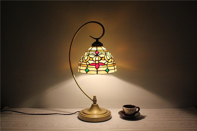 8-Zoll-verheiratet festliche Lichter Glasmalerei Lampe, die gehobenen Hotelzimmer Hotelzimmer Hotelzimmer Tischlampe leuchtet B06Y2H3TWJ     Ruf zuerst  b73c90