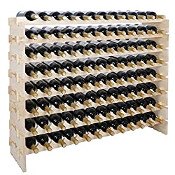 Smartxchoices stackable 96-bottle wine storage rack