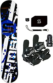 Symbolic Chopper Kids Snowboard & BLK Bindings & Leash & Stomp & Burton Decal Package