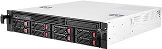 Silverstone SST-RM21-308 - Caja de Servidor de Montaje en Rack de 2U Compatible con 8X SAS/SATA y 6 GB/s Mini-SAS SFF-8087