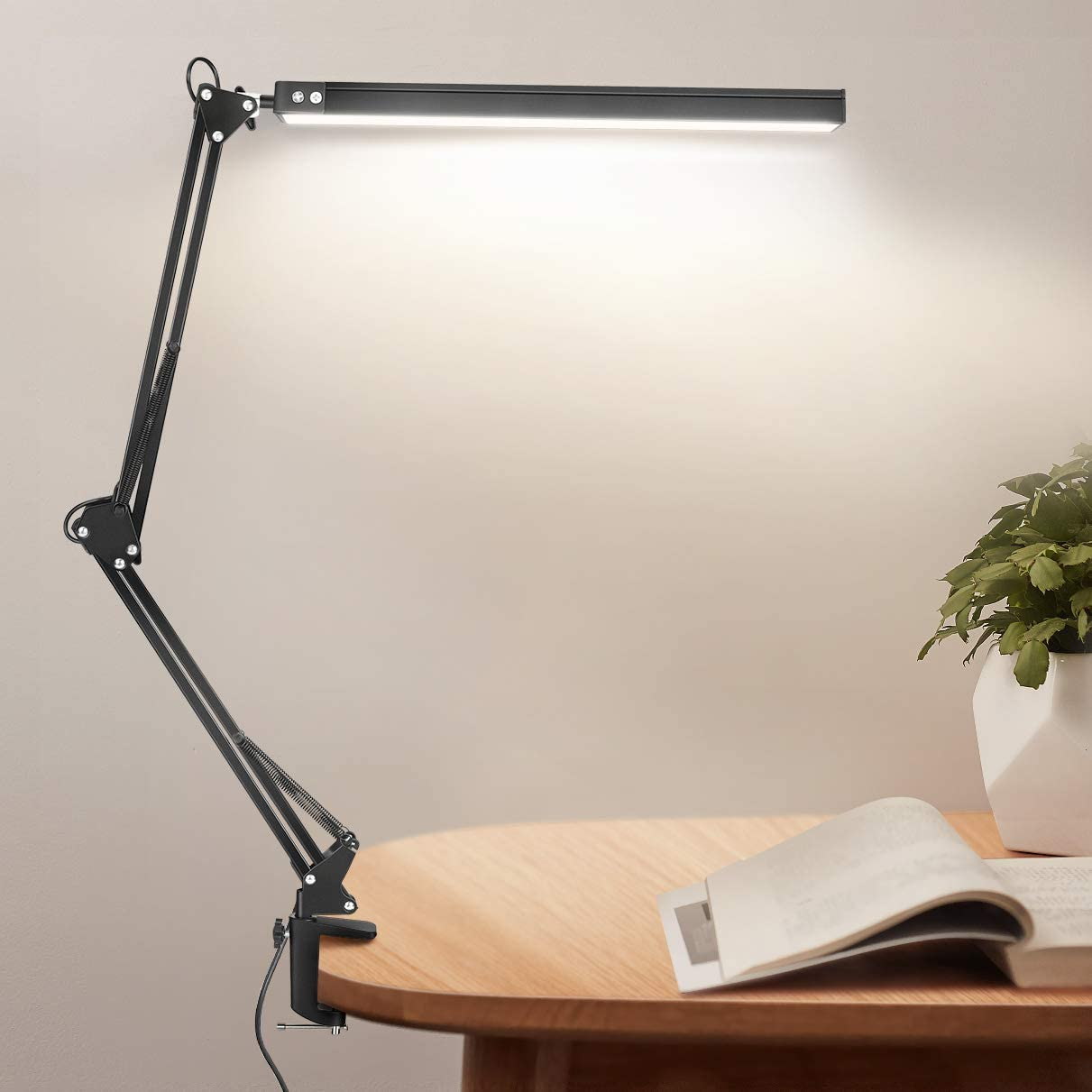 LED Desk Lamp with Clamp Eye-Care Ranking TOP7 Online limited product Jhua Swing 10W Arm