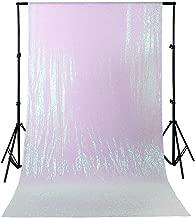 4ftx6.5ft White Iridescent Sequin Backdrop Wedding Sequin Photography Backdrop Party Glitter Backdrop Seamless Studio Backdrop