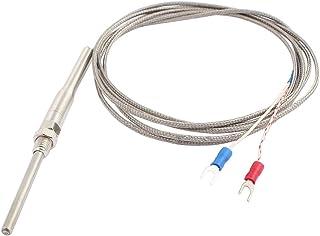 Sourcingmap/® Tipo K 0-500 C 6mm de Rosca del Sensor de Temperatura termopar de 2 Metros