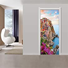 PAQOZ Door Sticker Decorative Painting Bedroom Living Room TV Wall Decoration