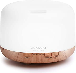 ASAKUKI 500ml Premium, Essential Oil Diffuser, 2021 UPGRADE Design, 5 In 1 Ultrasonic Aromatherapy Fragrant Oil Humidifier...