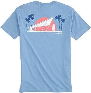 johnnie-O Mid Century Surfer T-Shirt - Gulf Blue