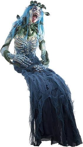 Envío 100% gratuito Erdbeerparty Erdbeerparty Erdbeerparty Decoración de Halloween, decoración parecer verdadera schreckliche Bruja Medusa, 200cm, Witch Medusa, Ideal para Cualquier Halloween Fiesta Fiesta, gris  de moda