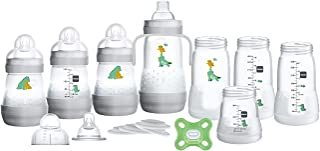 """MAM """"Grow with Baby"""" Set, Baby Gift Set (19-Piece), 5 oz and 9 oz Anti-Colic Baby Bottles, 0-4 Month Comfort Pacifier, Uni..."""