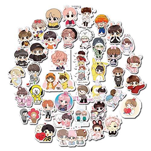 Mini Hand Koreaanse Sterren Zhang Sticker Kinderen briefpapier Telefoon Glas Trunk Waterdichte Sticker Tas Stickers 40 stks