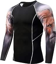 XQXCL Men's Rashguard Yoga Fitness Tights Shirts Top Long Sleeve Blouse