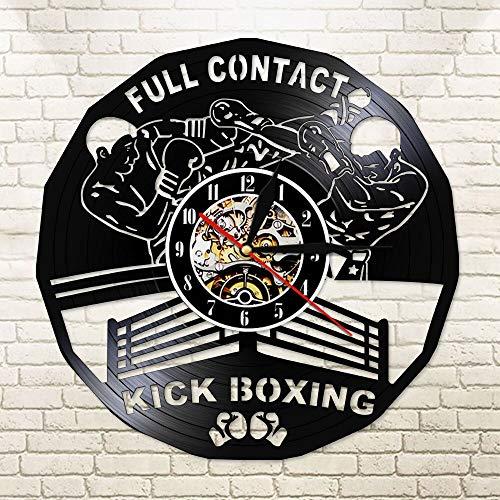 BFMBCHDJ Vollkontakt Kickboxen Led Wanduhr Boxhandschuhe Boxsack Infighters Watch Kampfsport Boxer Scrappers Gym Mit LED 12 Zoll
