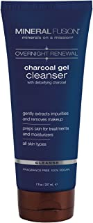 Mineral Fusion Overnight Renewal Charcoal Gel Cleanser, 7 Ounce