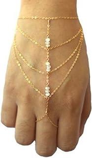NO:1 mehrlagige Finger Ring Armband Hand Celebrity elegante