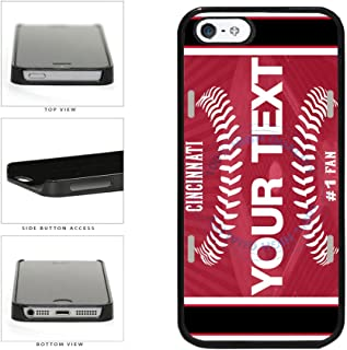 BleuReign(TM) Personalized Custom Name Baseball Cincinnati License Plate Plastic Phone Case Back Cover For Apple iPhone 5 5s and iPhone SE
