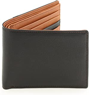 [アビエス] 日本製 ラム革調牛革 二つ折り財布(小銭入れなしタイプ)純札入
