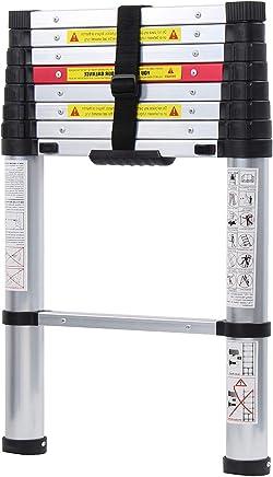 KS-JF-002-BH SogesFurniture Teleskopleiter 2.6M rutschfeste Stehleiter Anlegeleiter Mehrzweckleiter aus hochwertiges Aluminium