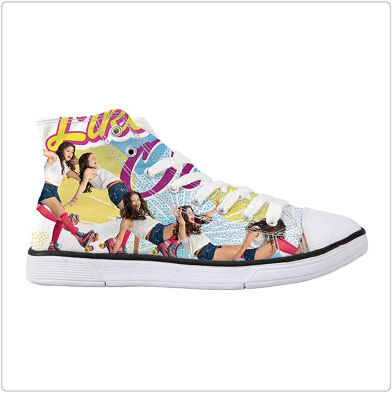 GLOPY& Sneaker Women Canvas shoes Vulcanized Soy Luna Print Teens Girls Lace Up shoes Female Classic Walking Flats High Top XM1387AK 40