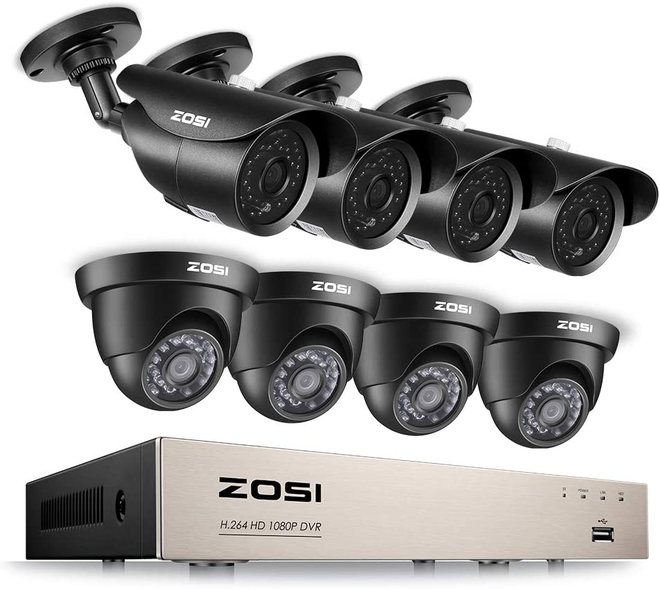 ZOSI 8CH 1080P Security Camera System HD-TVI DVR Video Luxury goods Discount is also underway Recorder