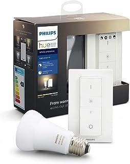 Philips Hue White Ambiance Zestaw do Przyciemniania LED - 1 żarówka E27 Bluetooth i pilot (regulator z funkcją ściemniani...