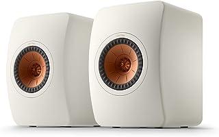 KEF LS50 Meta, Bookshelf Speakers with Metamaterial Absorption Technology, Pair, Mineral White