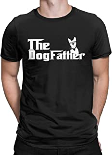 CHAMPRINT The Dogfather Funny T-Shirt Cool Dog Dad Pet Owner Tops Tees for Men