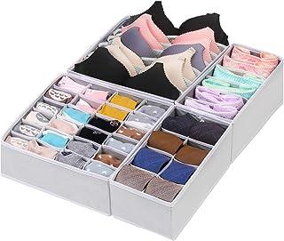 Boîtes de rangement pour sous-vêtements et chaussettes, organiseur de placard, boîte de rangement pliable pour soutien-gor...
