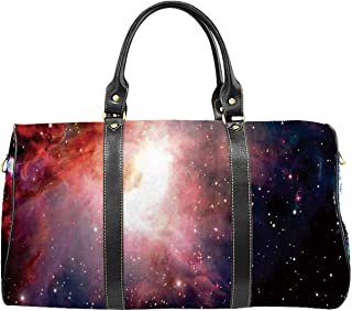 Space Decorations Environmental Travel Bag,Space Nebula after Super Nova Celestial Explore the Cosmos in the Universe Print for Shopping