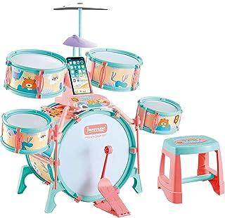 ドラムセット 子供用 キッズドラム 初心者用 ジャズドラム おもちゃ 1歳〜3歳〜6歳 太鼓 早期教育 音楽玩具 ドラム 打楽器 知育玩具 初級学習 組み立て簡単 生日プレゼント(c)