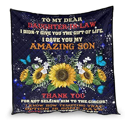 Ballbollbll Colcha para mi querida hija de verano, manta acogedora, sábana en sofá para dormir hombres y mujeres, color blanco 150 x 200 cm