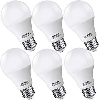 A19 LED Light Bulbs 60 Watt Equivalent, SANSUN 4000K Daylight Glow, Non-Dimmable, 6-Pack