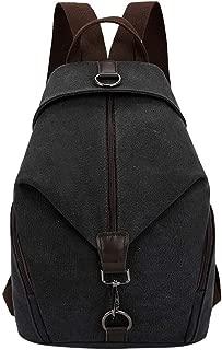 Waymine Women's Shoulder Bag Vintage Outdoor Pure Color Canvas Messenger Bag Handbag Phone Coin bag Packet