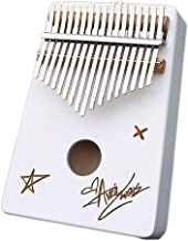 MAODOXIANG Thumb Pianos Instrumen White Kalimba 17 Keys Mahogany Wood Portable Mbira Finger Piano Gifts for Kids and Piano...