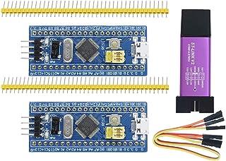 Aideepen ST-Link V2 Programming Unit Emulator Downloader(Random Color)+2PCS 40pin STM32F103C8T6 ARM STM32 SWD Minimum Syst...